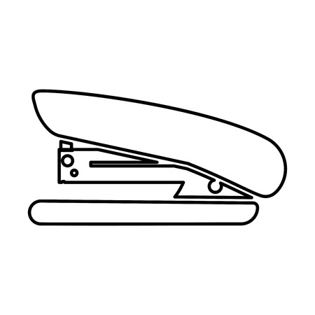 Stapler it is black color icon .