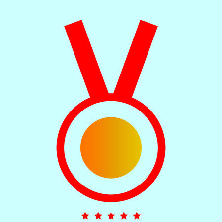 Medal it is color icon . Simple style . Illustration