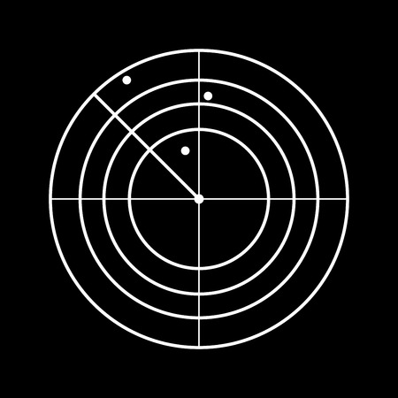 Radar it is white color icon .