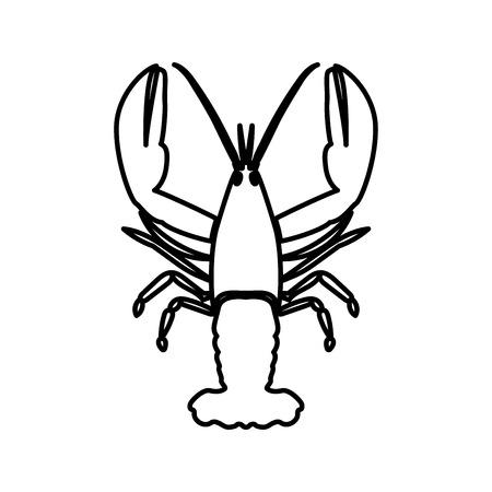 crawfish: Craw fish it is black color icon .