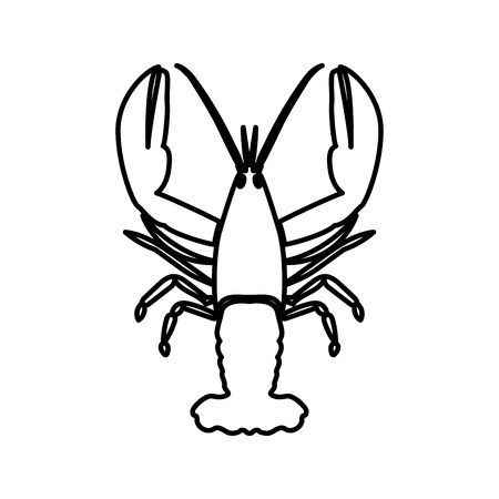 Craw fish it is black color icon .