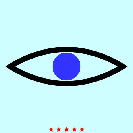 sight: Eye it is color icon . Simple style .