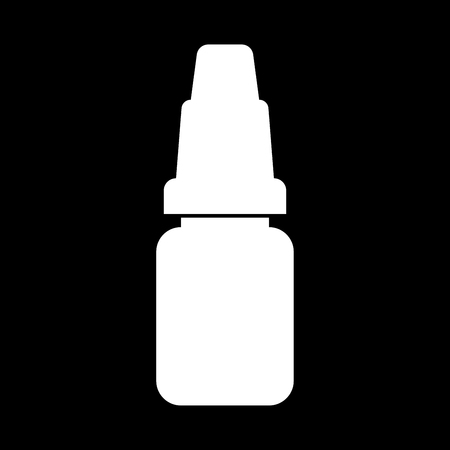 Eye drops it is white color icon .
