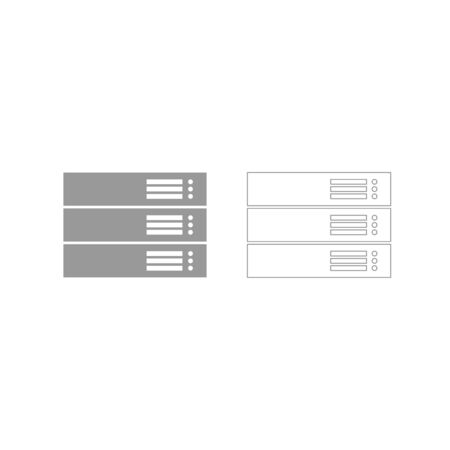 Server it is grey set icon .