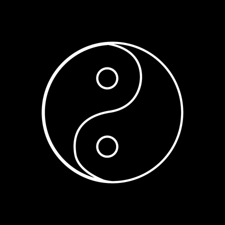 Yin Yang symbol it is white color icon .