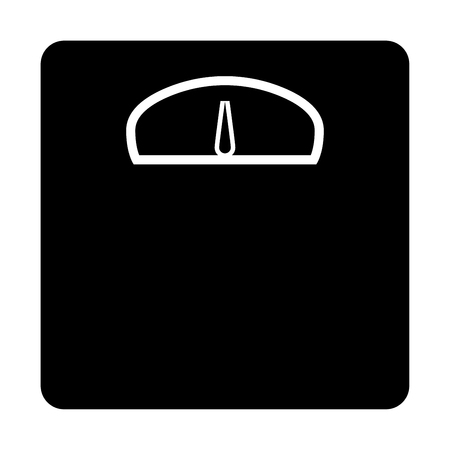 Weight scale it is black color icon .