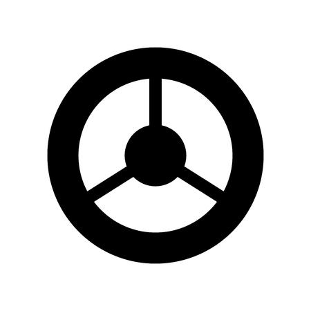 Steering wheel it is black color icon .