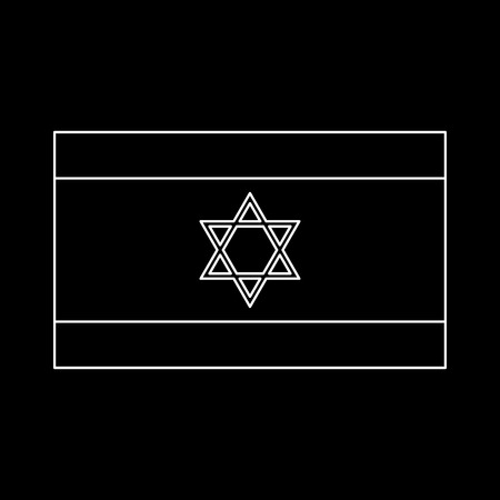 Flag of Israel it is white color icon .