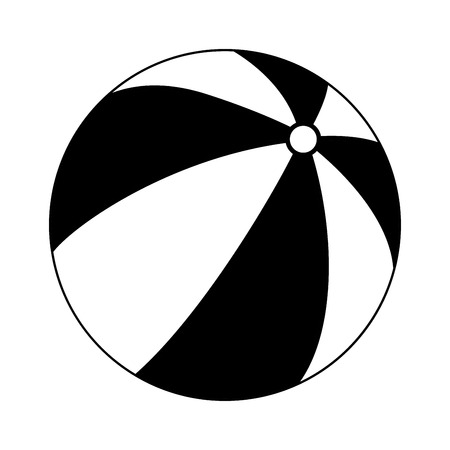 Childrens ball it is black color icon . Ilustracja