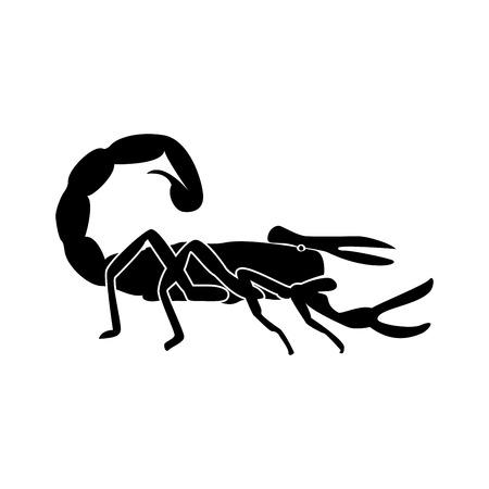 Scorpion it is black color icon .