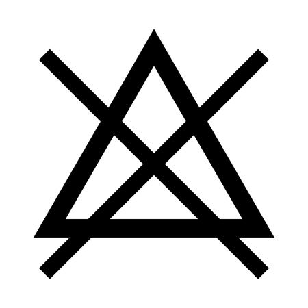 Il simbolo non candeggiare è l'icona del colore nero.