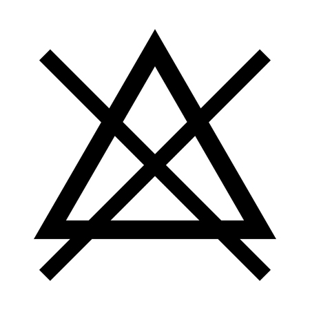 Symbol do not bleach it is black color icon .