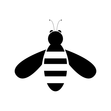 Bee it is black color icon .