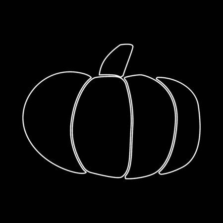 Pumpkin it is white color icon .