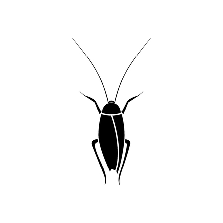 Cockroach it is black color icon . Illustration