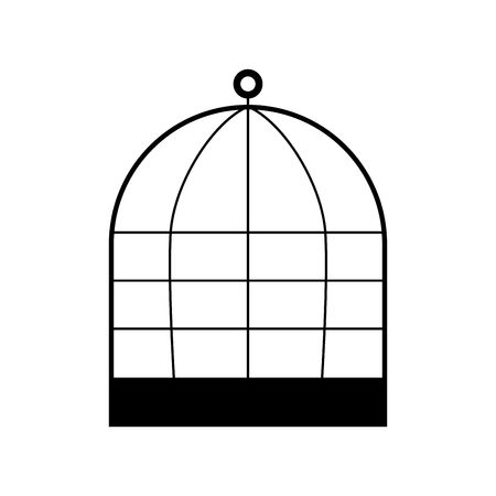 Iron cage it is black color icon .