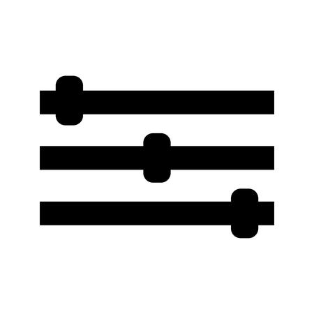 Control panel it is black color icon . Ilustração