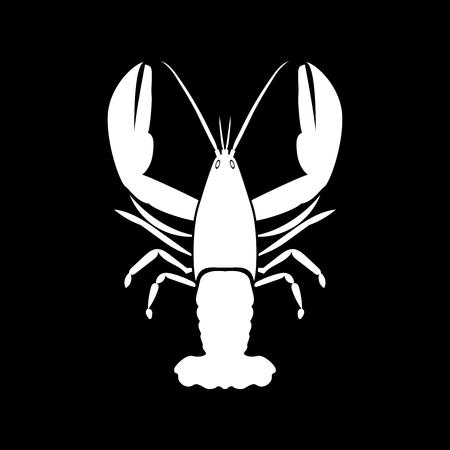 Craw fish it is white color icon . Banco de Imagens - 84354206