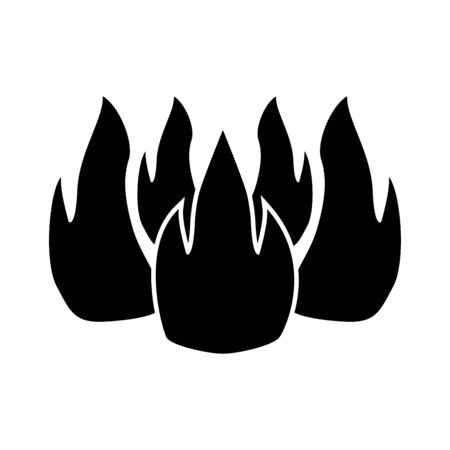 Fire it is black color icon . Stock Vector - 84354430