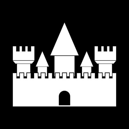 Castle it is white color icon .