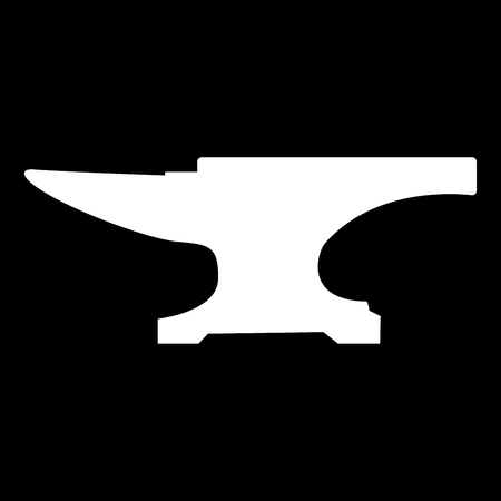 Anvil block it is white color icon .