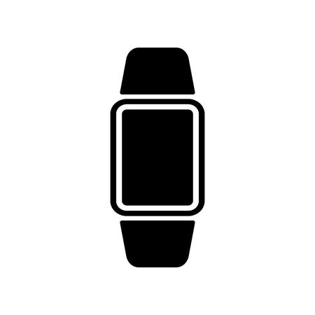 Digital hand clock it is black color icon .