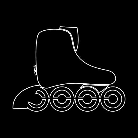 Roller skate it is white color icon .
