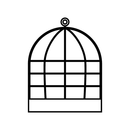 Iron cage it is icon . Illustration