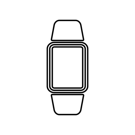 Digital hand clock icon .