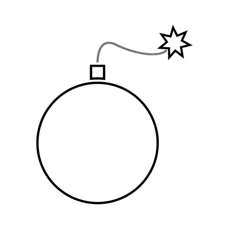 bombshell: Bomb icon . Illustration