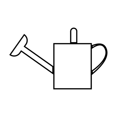 Watering can icon on white background. Vector illustration.