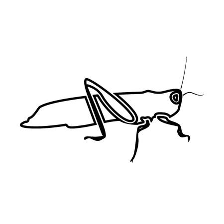 Grasshopper icon. Illustration