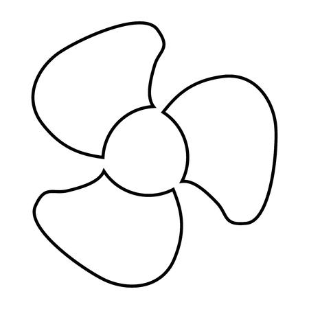 Fan blades icon.