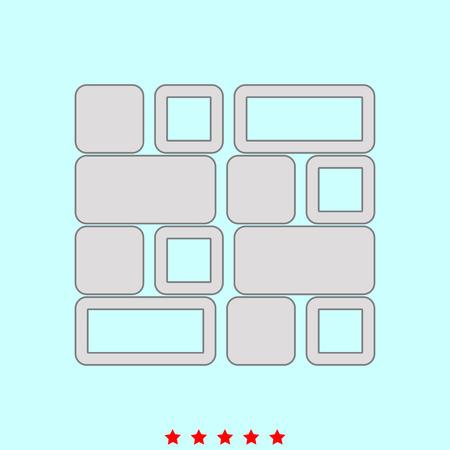Tile  set  it is color icon . Simple style .