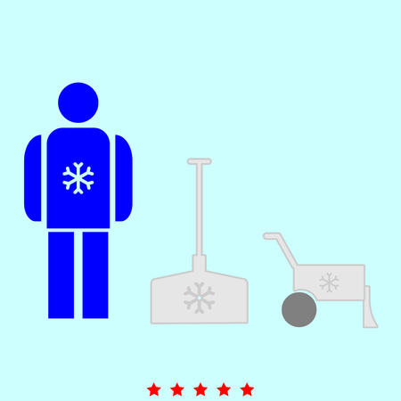 Snow removal  set  it is color icon . Simple style . Illustration