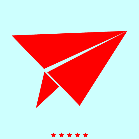 Paper airplane  set  it is color icon . Simple style .