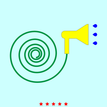 jets: Jets of water irrigates  set  it is color icon . Simple style . Illustration