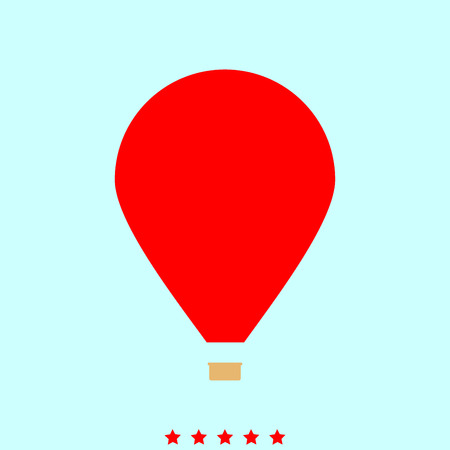 Hot air balloon  set  it is color icon . Simple style .