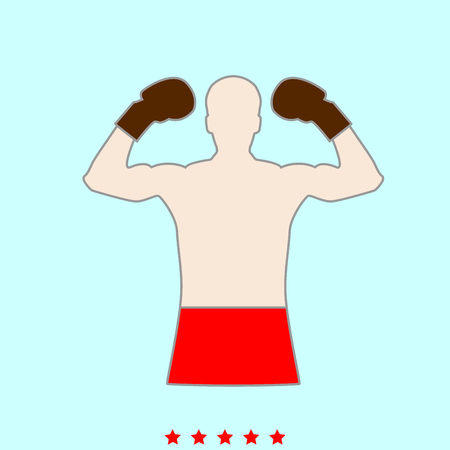 Boxer  set  it is color icon . Simple style . Illustration