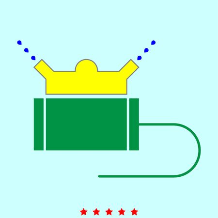 Lawn sprinklers  set  it is color icon . Simple style . Illustration