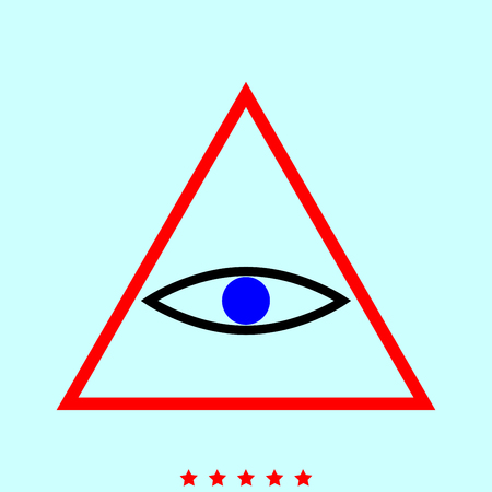 All seeing eye symbol simple icon.