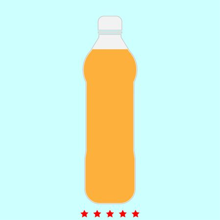 Water plastic bottle  simple style icon.