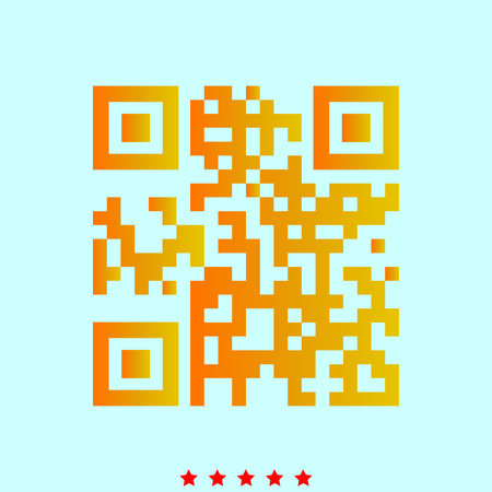 QR code  simple style icon.