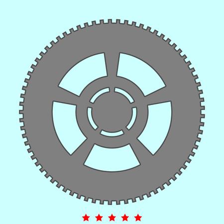 Car wheel  simple style icon.