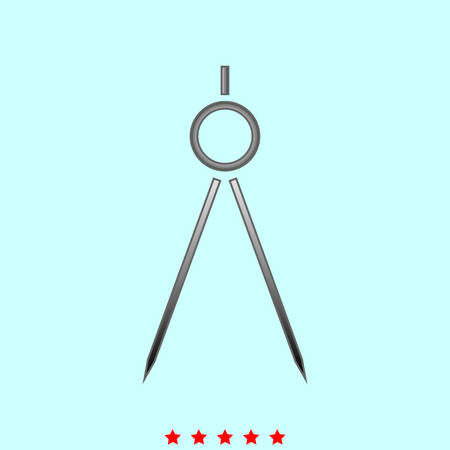 Compass simple style icon.
