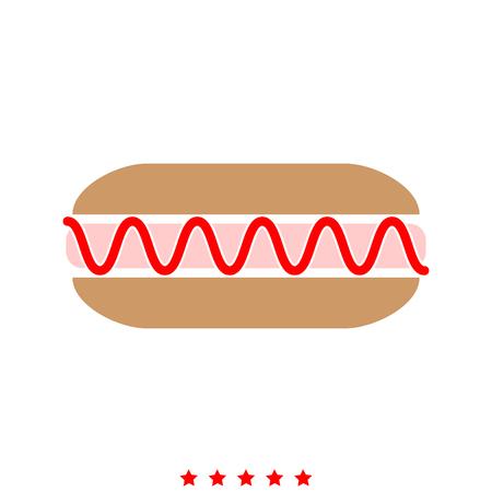 Hot dog it is icon . Flat style . Illustration