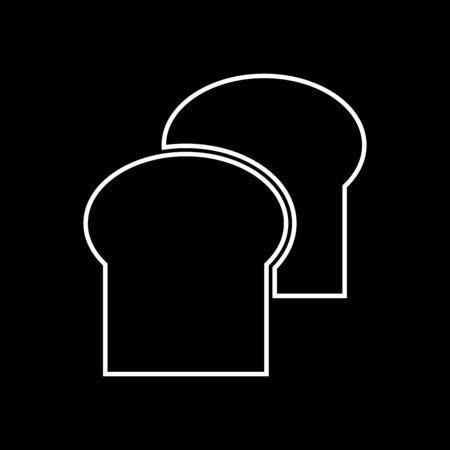 Bread it is icon . Flat style .