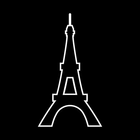 Eiffel Tower it is icon . Flat style . Illustration