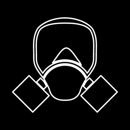 army gas mask: Gas mask it is icon . Flat style .
