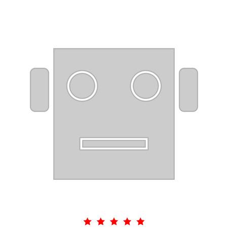 로봇 머리는 아이콘입니다. 플랫 스타일.